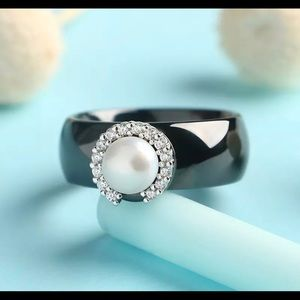 Sterling Silver and Ceramic Ring